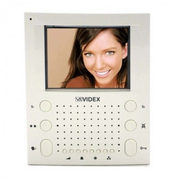 Videx SL5418 5000 SERIES COLOUR VIDEO MONITORS (ECLIPSE) White surface mount slim line handsfree videomonitor (Connection PCB included)