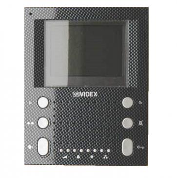 Videx SL5488/CA Apartment units Carbon fibre Eclipse surface slim line colour handsfree videomonitor (Connection PCB included)