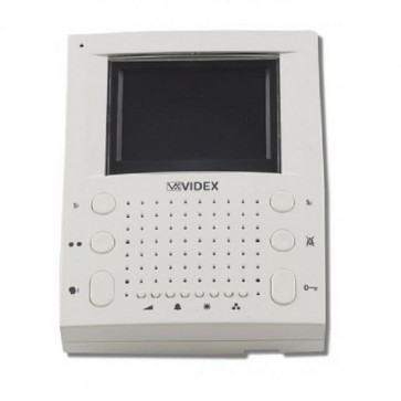 Videx SL5488 Apartment units White Eclipse surface colour slim line handsfree videomonitor (Connection PCB included)