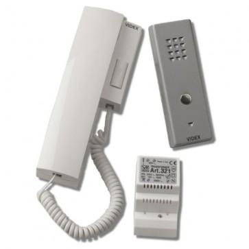 Videx SLK/380 SLIM AUDIO KIT  (3 + 1) 1 way plus 380 telephone interface (6H/380)