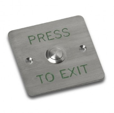 Videx SP80/T PUSH TO EXITS Flush s/s with timed s/s push to exit button
