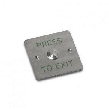 Videx SP80 PUSH TO EXITS Flush stainless steel push to exit button