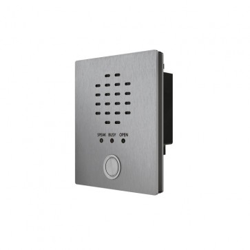 Videx VR4KAM2W-1/Y 12 Gauge stainless steel faceplate with gun metal grey alloy frame available in surface and flush mounting options Amplifier module (1 button with yellow bezel)