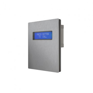 Videx VR4KDM 12 Gauge stainless steel faceplate with gun metal grey alloy frame available in surface and flush mounting options LCD display and voice annunciation module
