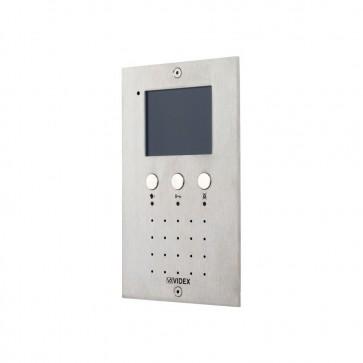 Videx VR5478 VX2200 colour Eclipse videomonitors Vandal resistant s/steel flush handsfree video monitor (Connection PCB included)