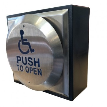 Push To Open Button Stainless Steel Face with Black Plastic Back Box