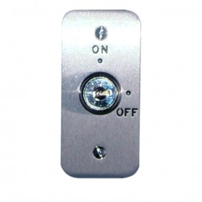 Stainless Steel Architrave Key Switch Maintained Keyed Different