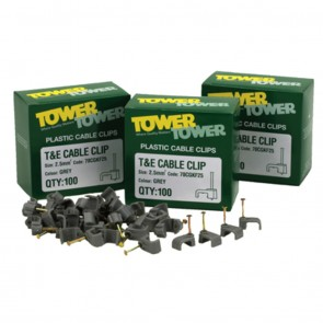 Tower Flat Plastic Cable Clips