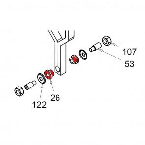 CASIT Traffic Barrier - Motor Support Nylon Bush