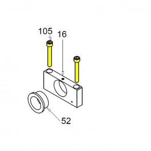 CASIT Traffic Barrier Main Shaft Clamp 10mm Bolt BM / BV