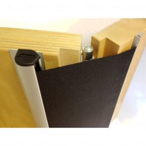 Door Hinge Finger Protector ( Silver Anodized )