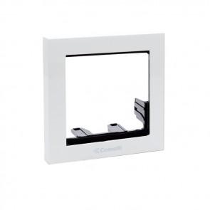 Comelit 3311/1W IKALL SERIES 1-MODULE HOLDER FRAME W/ WHITE FINISHING FRAME