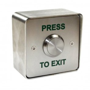 Push To Exit Button Flush Stainless Steel