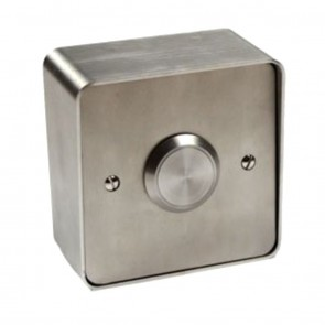 Blank Push Button With Stainless Steel Surround