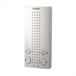 Videx 5118/CR 5000 SERIES AUDIO APARTMENT STATIONS (ECLIPSE) Silver surface mount handsfree apartment station