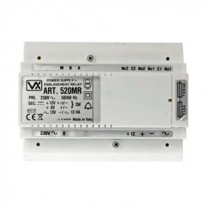 Videx 520MR 5000 SERIES COLOUR VIDEO MONITORS (ECLIPSE) Power supply 12v a/c, 8 + 12v d/c + relay