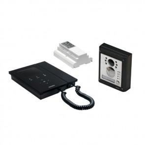 Videx CESVK-1/KRV86B KRISTALLO 2 WIRE COLOUR VIDEOKITS WITH 4000 SERIES ENTRY PANEL 1 Button flush kit with black Kristallo videophone