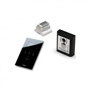 Videx CESVK-1/KRV88B KRISTALLO 2 WIRE COLOUR VIDEOKITS WITH 4000 SERIES ENTRY PANEL 1 Button flush kit with black handsfree Kristallo