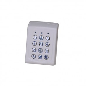 Videx EX5M-43B COMPLETE KEYPADS WITH HOUSING 99 code surface keypad, ABS 12-24v AC or DC with back light (IP65 rated) Metal keys