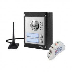Videx GSM4K-4 4000 SERIES MODULAR GSM AUDIO FLUSH KITS COMPLETE WITH PSU AND ANTENNA 4 way flush