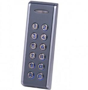 Videx INOX99-C VANDAL RESISTANT CODELOCKS (12V/24V) Slimline (50mm) 99 code surface metal keypad grey 12-24v AC or DC with back light (IP67 rated)