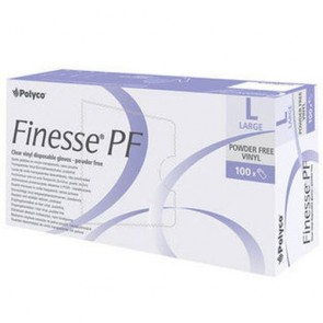 Finesse PF Vinyl Gloves Large