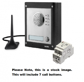 Videx GSM4K-7S 7 Way Surface Mount GSM Pro Intercom Kit With Proximity