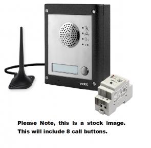 Videx GSM4K-8S 8 Way Surface Mount GSM Pro Intercom Kit With Proximity