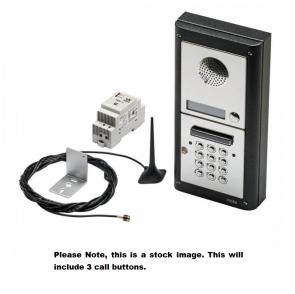 Videx GSM4KC-3S 3 Way Surface Mount GSM Pro Intercom Kit With Proximity And Codelock