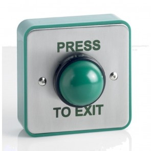 Press To Exit Green Dome Button ( Weather Proof )