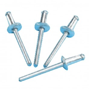 Plated Steel Domed Rivets 4.8mm x 12mm
