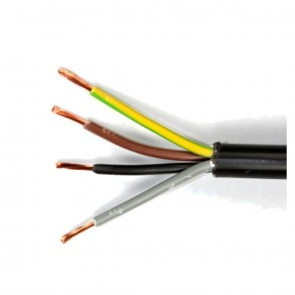 1.5mm 4 Core Black Flexible Cable