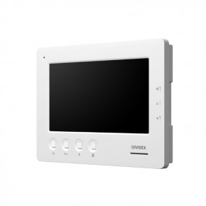 "Videx 6758 ALTERNATIVE HANDSFREE MONITOR FOR CVK4K, CVK8K & CVR4KV KITS (ADDITIONAL COST PER MONITOR) 7"" colour low profile monitor in satin white (Suffix kit codees with /6758)"