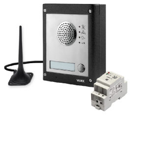 Videx GSM4K-1S 1 Way Surface Mount GSM Pro Intercom Kit With Proximity
