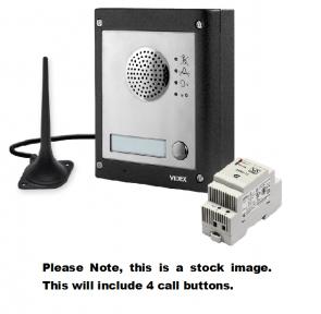 Videx GSM4K-4S 4 Way Surface Mount GSM Pro Intercom Kit With Proximity