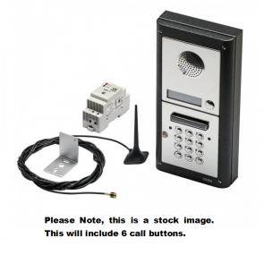 Videx GSM4KC-6S 6 Way Surface Mount GSM Pro Intercom Kit With Proximity And Codelock