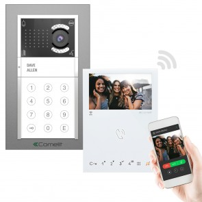 COMELIT IBK1-K-MW WIFI HANDS-FREE 2 WIRE KIT WITH APP CALLING.